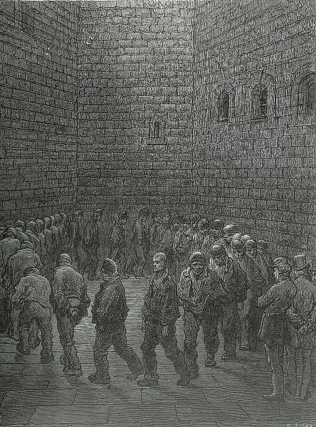 Newgate-prison-exercise-yard